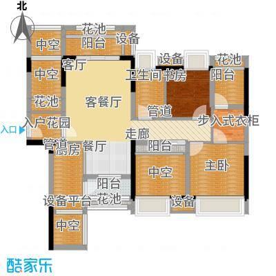 君汇上品66.00㎡君汇上品户型图2栋A座01户型2室2厅2卫1厨户型2室2厅2卫1厨