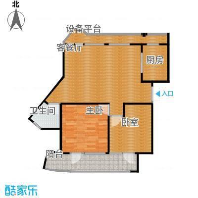 玉兰公寓89.00㎡3-16层户型1室1厅1卫1厨