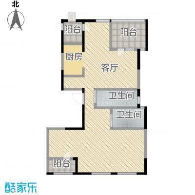 银马公寓167.52㎡户型1厅2卫