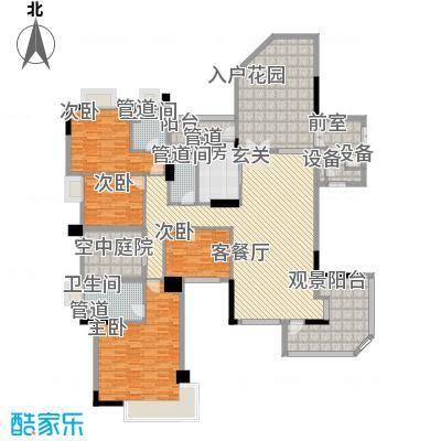 海畔嘉苑203.88㎡海畔嘉苑户型图8栋3-14层A3室2厅3卫1厨户型3室2厅3卫1厨
