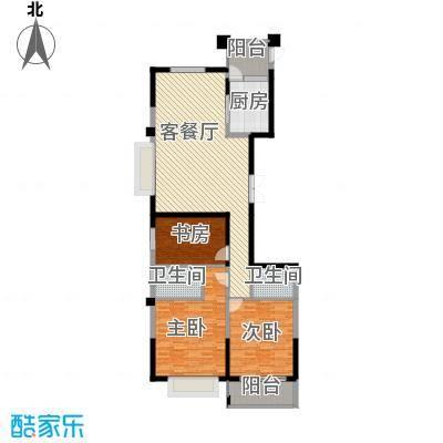 云龙十一景118.58㎡户型3室1厅2卫1厨