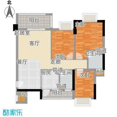 奥米茄花园90.00㎡奥米茄花园户型图香槟郡5栋2-14层02单元3室2厅2卫户型3室2厅2卫