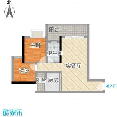 恒福新城76.00㎡恒福新城2室户型2室