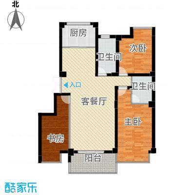九堡明珠公寓118.46㎡户型3室1厅2卫1厨