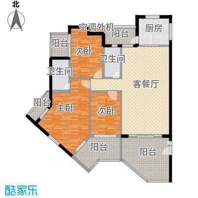 天成铭园138.09㎡天成铭苑户型3室1厅2卫1厨