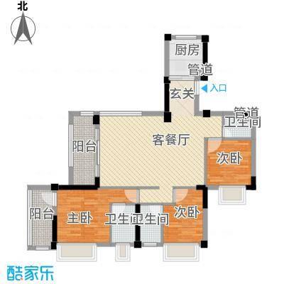 海源花园115.00㎡海源花园3室户型3室