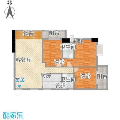 柒星景123.98㎡柒星景户型图标准层13单元户型图3室2厅2卫1厨户型3室2厅2卫1厨