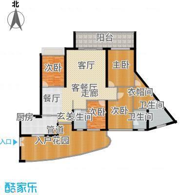 均城上岛水岸211.00㎡均城上岛水岸户型图品江苑03单元4室2厅3卫1厨户型4室2厅3卫1厨
