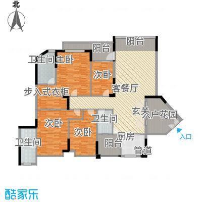 均城上岛水岸212.00㎡均城上岛水岸户型图御江苑03单元4室2厅3卫1厨户型4室2厅3卫1厨