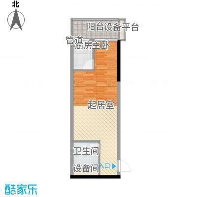 柒星景48.51㎡柒星景户型图1室1厅1卫1厨户型10室