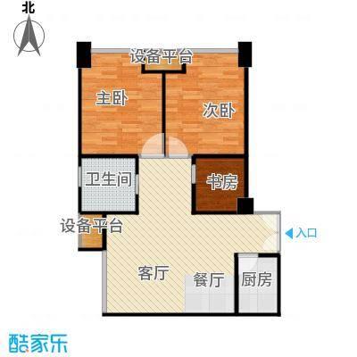 禧福汇94.30㎡B户型3室1厅1卫1厨