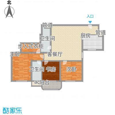 银亿徐汇酩悦145.00㎡银亿徐汇酩悦户型图A3户型图3室2厅2卫1厨户型3室2厅2卫1厨