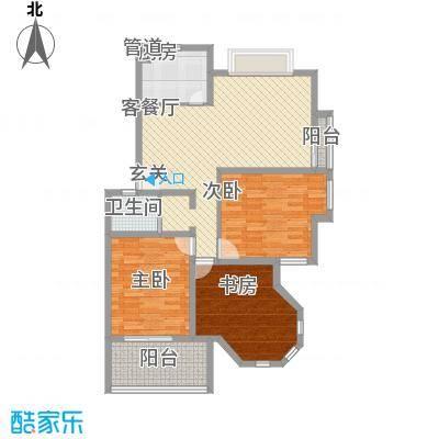 华鑫现代城120.00㎡华鑫现代城户型图d2户型3室2厅1卫1厨户型3室2厅1卫1厨