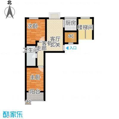 向阳城75.00㎡向阳城户型图C2标准层户型图2室1厅1卫1厨户型2室1厅1卫1厨