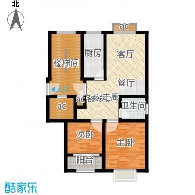 向阳城91.50㎡向阳城户型图A1标准层户型图2室2厅1卫1厨户型2室2厅1卫1厨