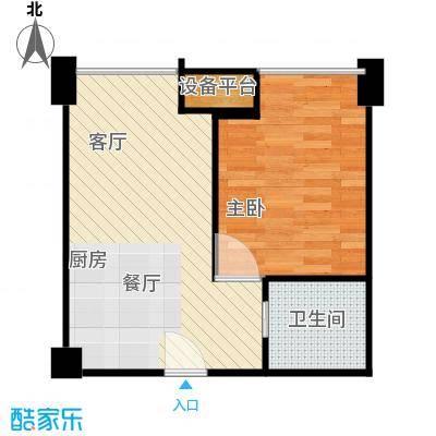 禧福汇54.80㎡A户型1室1厅1卫