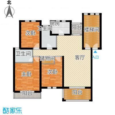 东冠逸家122.00㎡户型3室1厅2卫1厨