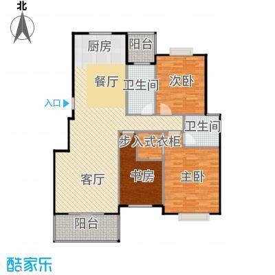 金海香滨湾132.00㎡户型3室1厅2卫