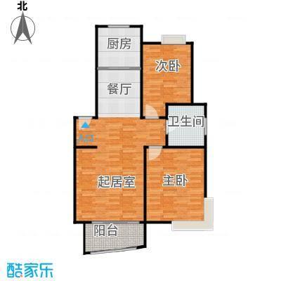 广利佳苑89.38㎡户型2室1卫1厨