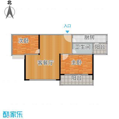 海天公寓132.12㎡户型2室1厅1卫1厨