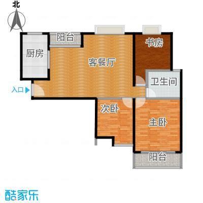 海天公寓98.90㎡户型3室1厅1卫1厨