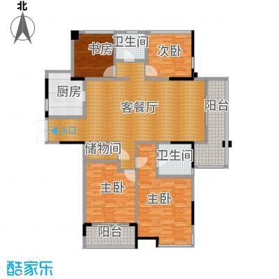 上东名筑142.58㎡户型4室1厅2卫1厨