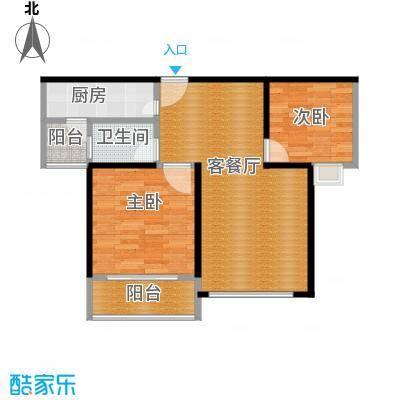 海天公寓68.04㎡户型2室1厅1卫1厨
