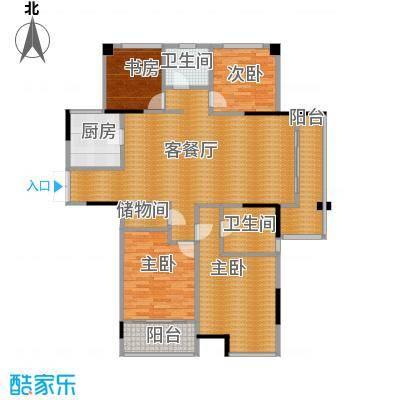 上东名筑139.20㎡户型4室1厅2卫1厨