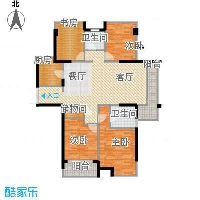 上东领地118.85㎡户型4室1厅2卫1厨