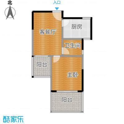 裕园公寓80.00㎡户型1室1厅1卫1厨