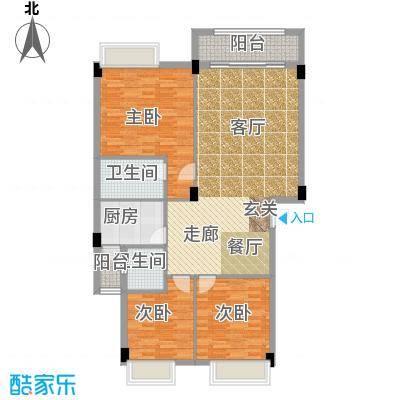 大福名城大福名城户型图112.86m2温馨三房户型10室