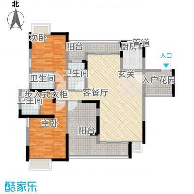 逸林苑155.00㎡逸林苑户型图21栋2-16层012室2厅3卫1厨户型2室2厅3卫1厨