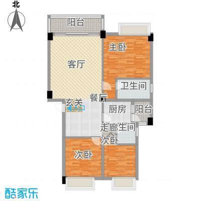 大福名城大福名城户型图105.64m2温馨三房户型10室