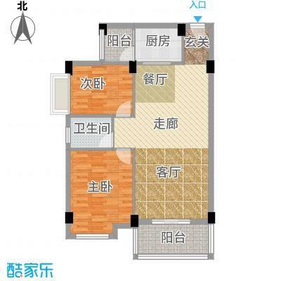 大福名城大福名城户型图81.14m2时尚二房户型10室