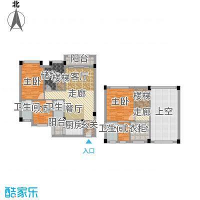 大福名城大福名城户型图138.82-144.12m2复式三房户型10室