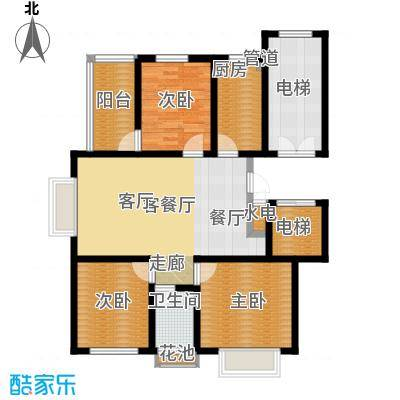 卓越玫瑰园101.00㎡卓越玫瑰园高层G/H户型3室2厅1卫1厨101.00㎡户型3室2厅1卫1厨