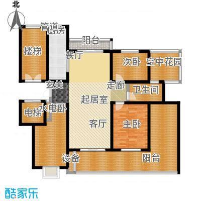 卓越玫瑰园124.00㎡卓越玫瑰园高层D户型3室2厅1卫1厨124.00㎡户型3室2厅1卫1厨
