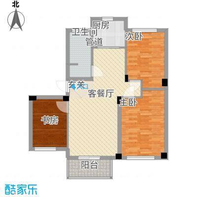 伟业迎春世家户型图4#标准层02、05室D2户型82㎡3室2厅1卫1厨 3室2厅1卫