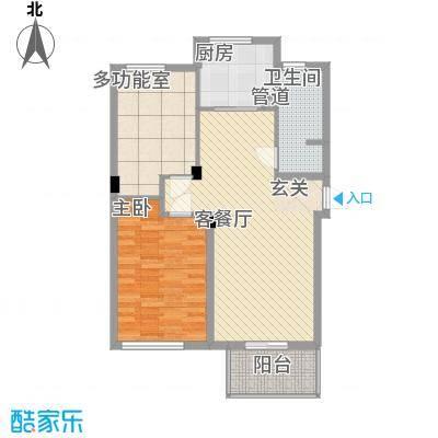 伟业迎春世家户型图4#标准层04室D3户型95㎡ 2室2厅1卫1厨 2室2厅1卫