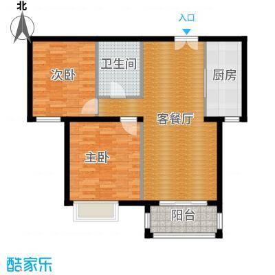 银丰花园108.00㎡B3户型2室1厅1卫1厨
