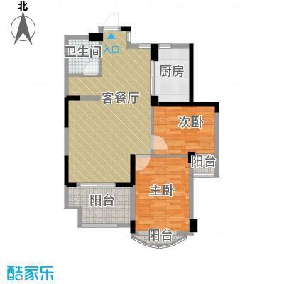 泊林公寓70.60㎡户型2室1厅1卫1厨