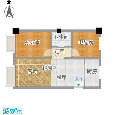 彩虹湖56.70㎡商务公寓2、3号楼I'户型1卫1厨