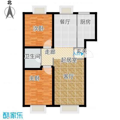 游龙逸海庭院104.50㎡二期公寓产品A户型2室1卫1厨