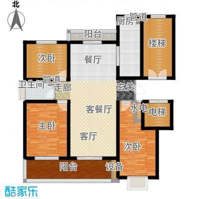 卓越玫瑰园121.00㎡卓越玫瑰园高层E户型3室2厅1卫1厨121.00㎡户型3室2厅1卫1厨