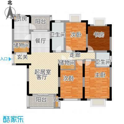 上铁银欣花园144.00㎡上铁银欣花园户型图四室二厅144㎡4室2厅2卫1厨户型4室2厅2卫1厨