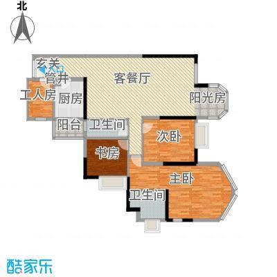 江畔华庭136.00㎡江畔华庭户型图4室2厅户型图4室2厅2卫1厨户型4室2厅2卫1厨