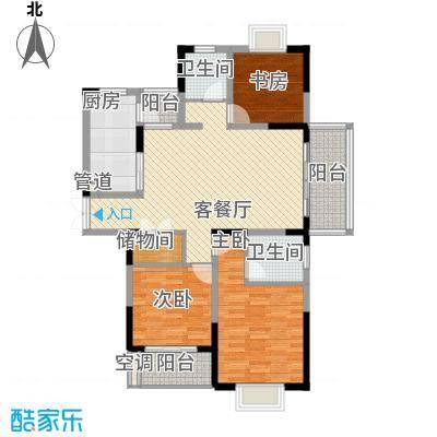 紫云花园87.00㎡紫云花园3室户型3室