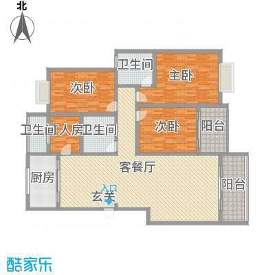 怡园洋房216.00㎡怡园洋房5室户型5室