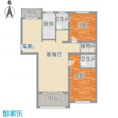 文锦新城102.03㎡文锦新城户型图户型c2室2厅2卫1厨户型2室2厅2卫1厨