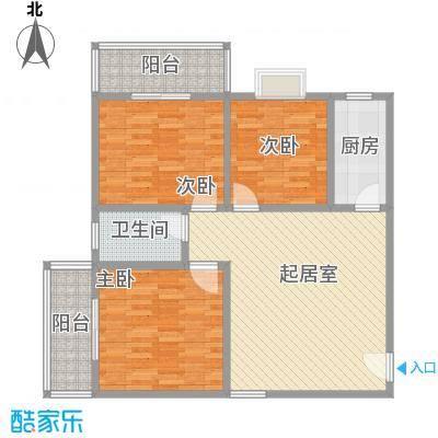 文景雅苑111.61㎡1号楼C户型3室2厅1卫1厨